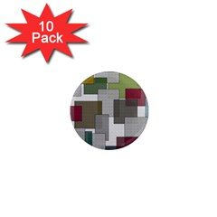 Decor Painting Design Texture 1  Mini Magnet (10 Pack)