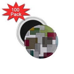 Decor Painting Design Texture 1 75  Magnets (100 Pack)