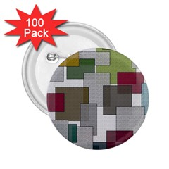 Decor Painting Design Texture 2 25  Buttons (100 Pack)