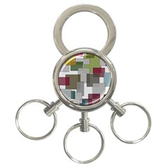 Decor Painting Design Texture 3 Ring Key Chains