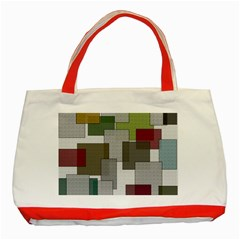 Decor Painting Design Texture Classic Tote Bag (red)