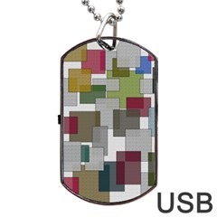 Decor Painting Design Texture Dog Tag Usb Flash (two Sides)