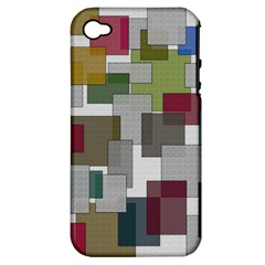 Decor Painting Design Texture Apple Iphone 4/4s Hardshell Case (pc+silicone)