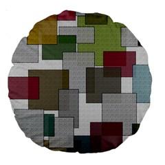 Decor Painting Design Texture Large 18  Premium Round Cushions
