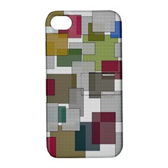 Decor Painting Design Texture Apple Iphone 4/4s Hardshell Case With Stand