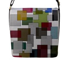 Decor Painting Design Texture Flap Messenger Bag (l)