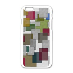 Decor Painting Design Texture Apple Iphone 6/6s White Enamel Case