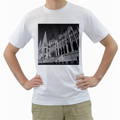 Architecture Parliament Landmark Men s T Shirt (white) (two Sided)
