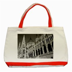 Architecture Parliament Landmark Classic Tote Bag (red)