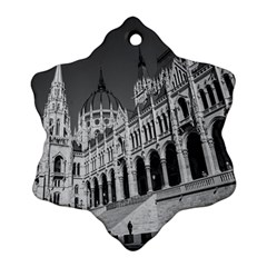 Architecture Parliament Landmark Snowflake Ornament (two Sides)