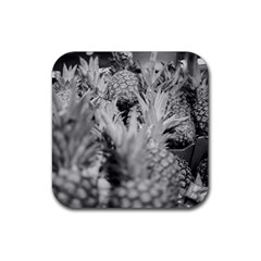 Pineapple Market Fruit Food Fresh Rubber Square Coaster (4 Pack)