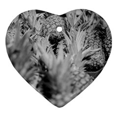 Pineapple Market Fruit Food Fresh Heart Ornament (two Sides)