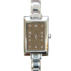 Leather Texture Brown Background Rectangle Italian Charm Watch