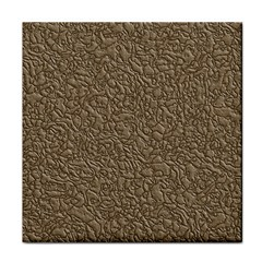 Leather Texture Brown Background Tile Coasters