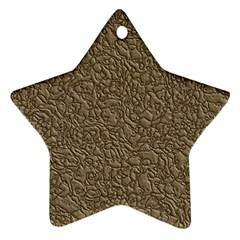 Leather Texture Brown Background Ornament (star)