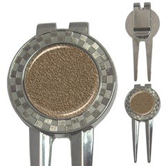 Leather Texture Brown Background 3 In 1 Golf Divots
