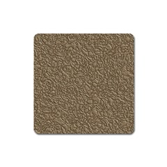 Leather Texture Brown Background Square Magnet