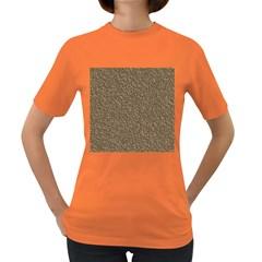 Leather Texture Brown Background Women s Dark T Shirt