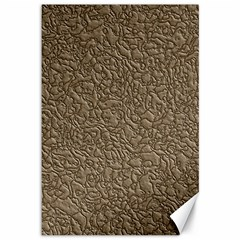 Leather Texture Brown Background Canvas 12  X 18