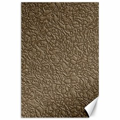 Leather Texture Brown Background Canvas 24  X 36