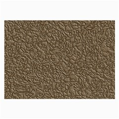 Leather Texture Brown Background Large Glasses Cloth (2 Side)