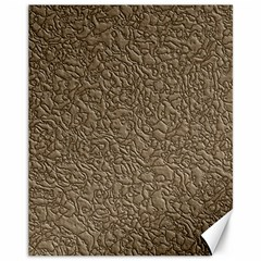 Leather Texture Brown Background Canvas 11  X 14