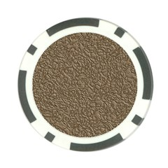 Leather Texture Brown Background Poker Chip Card Guard