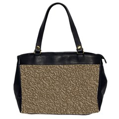 Leather Texture Brown Background Office Handbags (2 Sides)