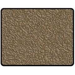 Leather Texture Brown Background Fleece Blanket (medium)