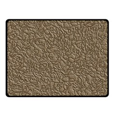 Leather Texture Brown Background Fleece Blanket (small)