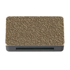 Leather Texture Brown Background Memory Card Reader With Cf