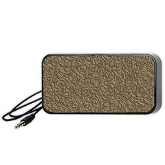 Leather Texture Brown Background Portable Speaker (black)