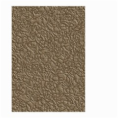 Leather Texture Brown Background Small Garden Flag (two Sides)