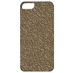 Leather Texture Brown Background Apple Iphone 5 Classic Hardshell Case