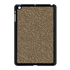 Leather Texture Brown Background Apple Ipad Mini Case (black)