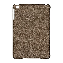 Leather Texture Brown Background Apple Ipad Mini Hardshell Case (compatible With Smart Cover)
