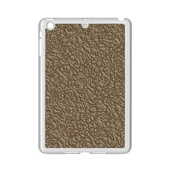Leather Texture Brown Background Ipad Mini 2 Enamel Coated Cases