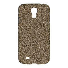 Leather Texture Brown Background Samsung Galaxy S4 I9500/i9505 Hardshell Case
