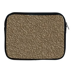Leather Texture Brown Background Apple Ipad 2/3/4 Zipper Cases