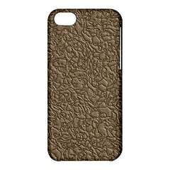 Leather Texture Brown Background Apple Iphone 5c Hardshell Case
