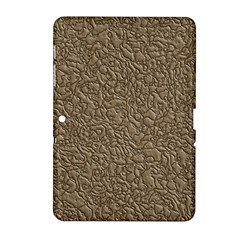 Leather Texture Brown Background Samsung Galaxy Tab 2 (10 1 ) P5100 Hardshell Case