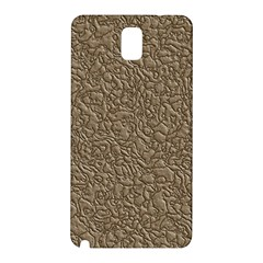 Leather Texture Brown Background Samsung Galaxy Note 3 N9005 Hardshell Back Case