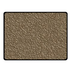 Leather Texture Brown Background Double Sided Fleece Blanket (small)