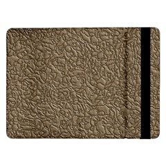 Leather Texture Brown Background Samsung Galaxy Tab Pro 12 2  Flip Case