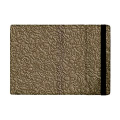 Leather Texture Brown Background Ipad Mini 2 Flip Cases