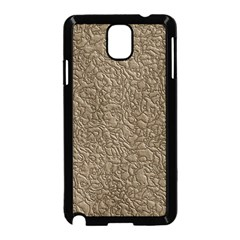 Leather Texture Brown Background Samsung Galaxy Note 3 Neo Hardshell Case (black)