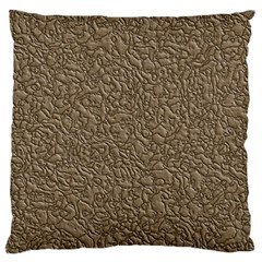 Leather Texture Brown Background Standard Flano Cushion Case (two Sides)