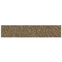 Leather Texture Brown Background Flano Scarf (small)