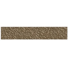 Leather Texture Brown Background Flano Scarf (large)