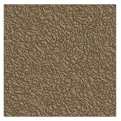 Leather Texture Brown Background Large Satin Scarf (square)